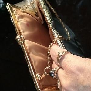 Gold Kisslock Evening Bag